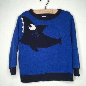 Gymboree Blue Shark Pullover Sweatshirt Size 2T